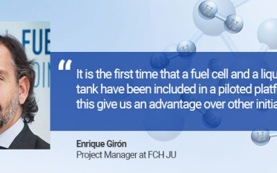 It is the first time that a fuel cell and a liquid hydrogen tank have been included in a piloted platform, and this give us an advantage over other initiatives